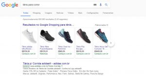 Vitrine Google Shopping
